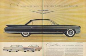 1960-Cadillac-PRINT-AD-New-2-page-Coupe-Fleetwood-and-Sedan