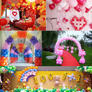 100Pcs Round Multicolor Pearl Latex Balloon Celebration Party Wedding Birthday