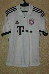 Bayern Munich Munchen 2013 2014 Away White Adidas Shirt Jersey Trikot Size S