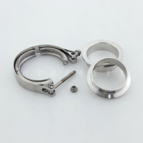 """2.25/"""" V-band Clamp Flanges Kit 2 1//4 in 304 Stainless Steel for Downpipe Exhaust"""