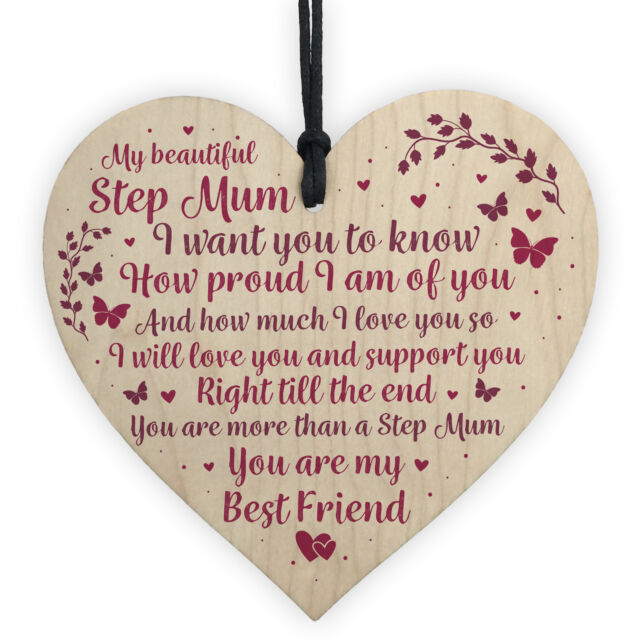 Stepmum Birthday Gifts Step Mum Presents For Mothers Day Christmas Keepsake Sign Sale Online