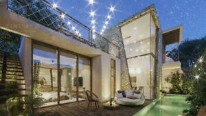 Increíble casa de 3 hab. con skyview,  alberca propia y tobogán en Tulum P3457