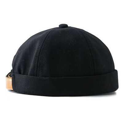 Men Unisex Street Casual Docker Sailor Biker Hat Loop Beanie Brimless Cap Gift
