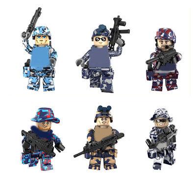 Spielzeug 6pcs/set Military Camouflage Special Force Building Blocks Bricks Figures Toys Bauklötze