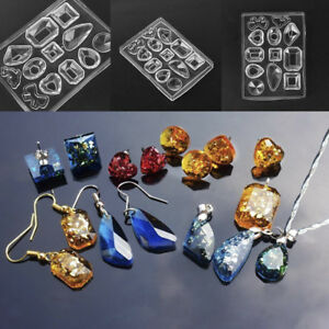 1 pcs Silicone Cake Crystal Pendant Mold Resin Pendant Jewelry Making Tools NEW