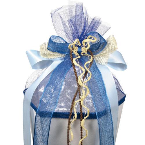Schleife für Schultüte Zuckertüte auch mit Name Country blau