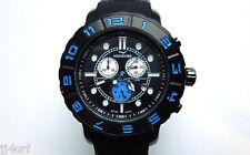 AQUASWISS RUGGED XG 96XG065 Black Stainless Steel Chrono Swiss Watch, Day/Date