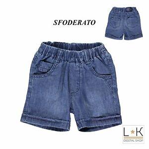 Bermuda-di-Jeans-in-Cotone-Neonato-Denim-Minibanda-M651