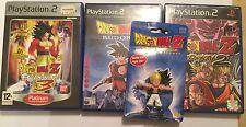 GOTENK FIGURE + 3x PLAYSTATION 2 PS2 DRAGONBALL Z BUDOKAI 1 + 2 & 3 GAMES BUNDLE
