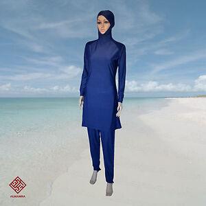 AlHamra-Classic-Burkini-Women-Modest-Islamic-Muslim-Swimsuit-Swimwear-Blue-Swim