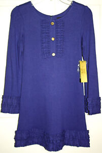 NWT-Girls-Nicole-Miller-Blue-Dress-Size-8