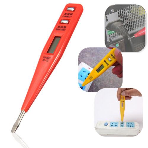 12-250V AC//DC Digital Electrical Tester Pen Probe Voltage Inductance Detector YF