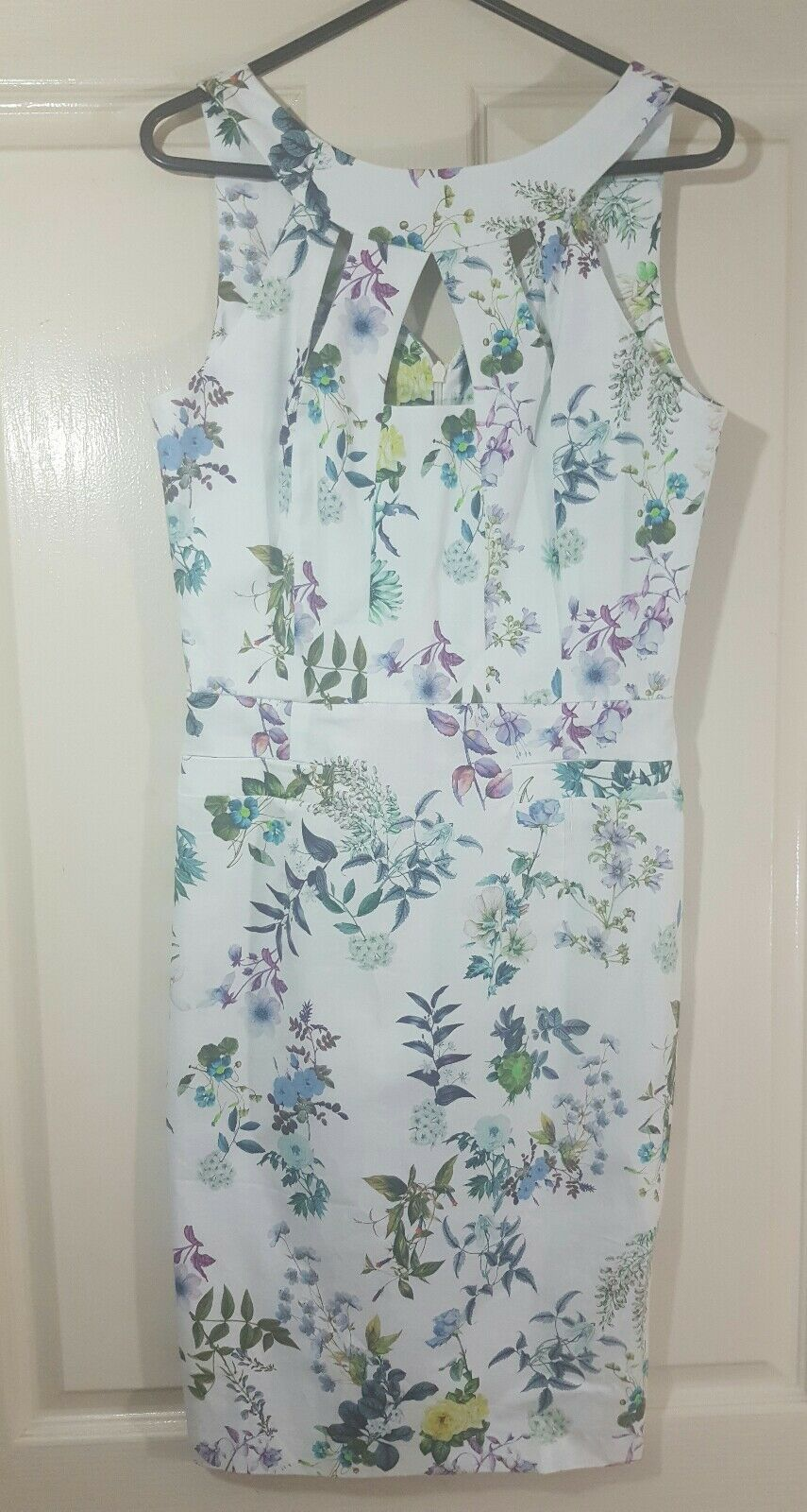 NEW Womens Designer Biancoghiaccio Floral Dress Size 40 Made In