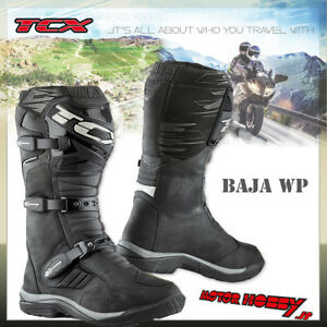 STIVALI-TOURING-ADVENTURE-TCX-BAJA-WP-9220W-ENDURO-WATERPROOF-NERO-TAGLIA-45
