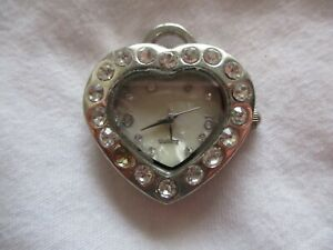 Figaro Couture CUTE & ELEGANT Heart Shaped Necklace Pendant Watch