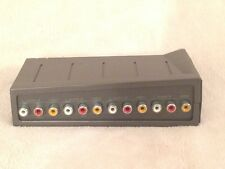 RCA Switch Box AV 4 Port In 1 Out Splitter 4-way Game Audio Video TV Box PS3 DVD