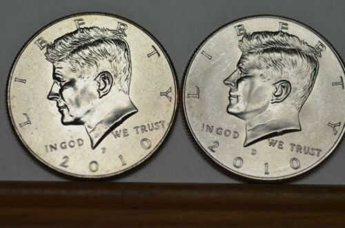 2010 P/&D BU Kennedy Half Dollars from US Mint Roll    Item #1860