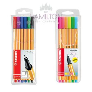 STABILO-POINT-88-FINELINER-PEN-Various-assorted-packs-of-6-fineliner-pens