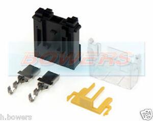 12v 24v 1 way single fuse box holder maxi blade clip together kit image is loading 12v 24v 1 way single fuse box holder