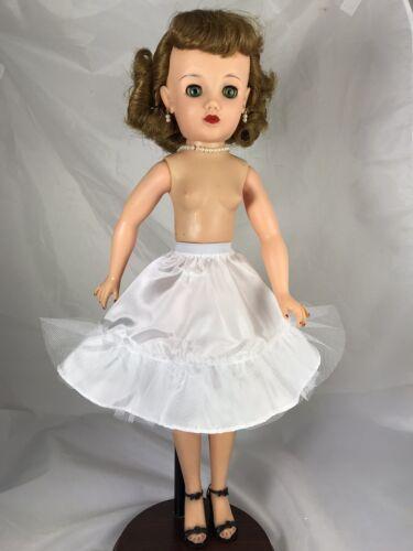 """6 1//2"""" White petticoat slip for 20"""" doll or Miss Revlon *more Colors*"""