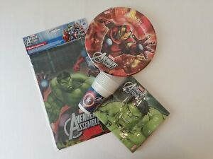 Marvel-039-s-The-Avengers-Party-Supplies-Tableware-Bundle