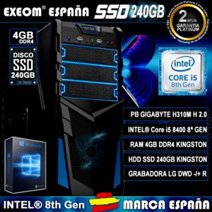 Ordenador-Pc-Gaming-Intel-Core-i5-8400-6xCORES-4GB-DDR4-SSD-240GB-HDMI-Sobremesa