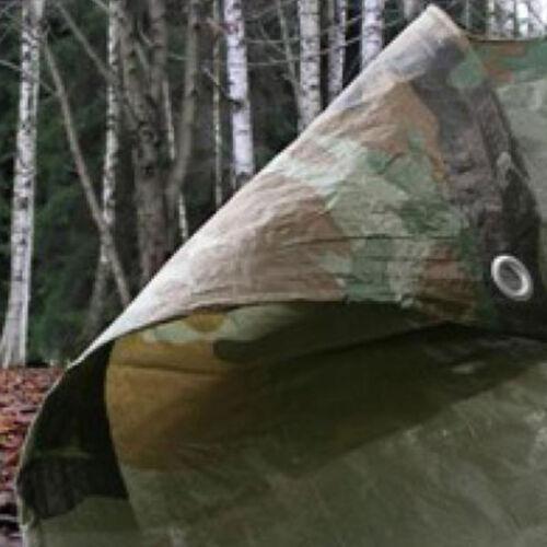 Lightweight Waterproof Camouflage Camo Tarp Tarpaulin Basha Shelter 3.5 x 5.4 m