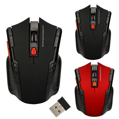 USB2.0 2.4Ghz Mini Wireless Optical Gaming Mouse Mice/&  Receiver For PC Laptop