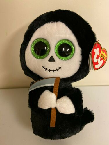 """Ghost with sickle 6/"""" MWMT Ty Beanie Boo 2015 RETIRED RARE HTF GRIMM"""