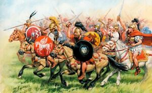 Zvezda-8038-1-72-Lot-de-Figurines-Republican-Rome-Cavalary-Neuf