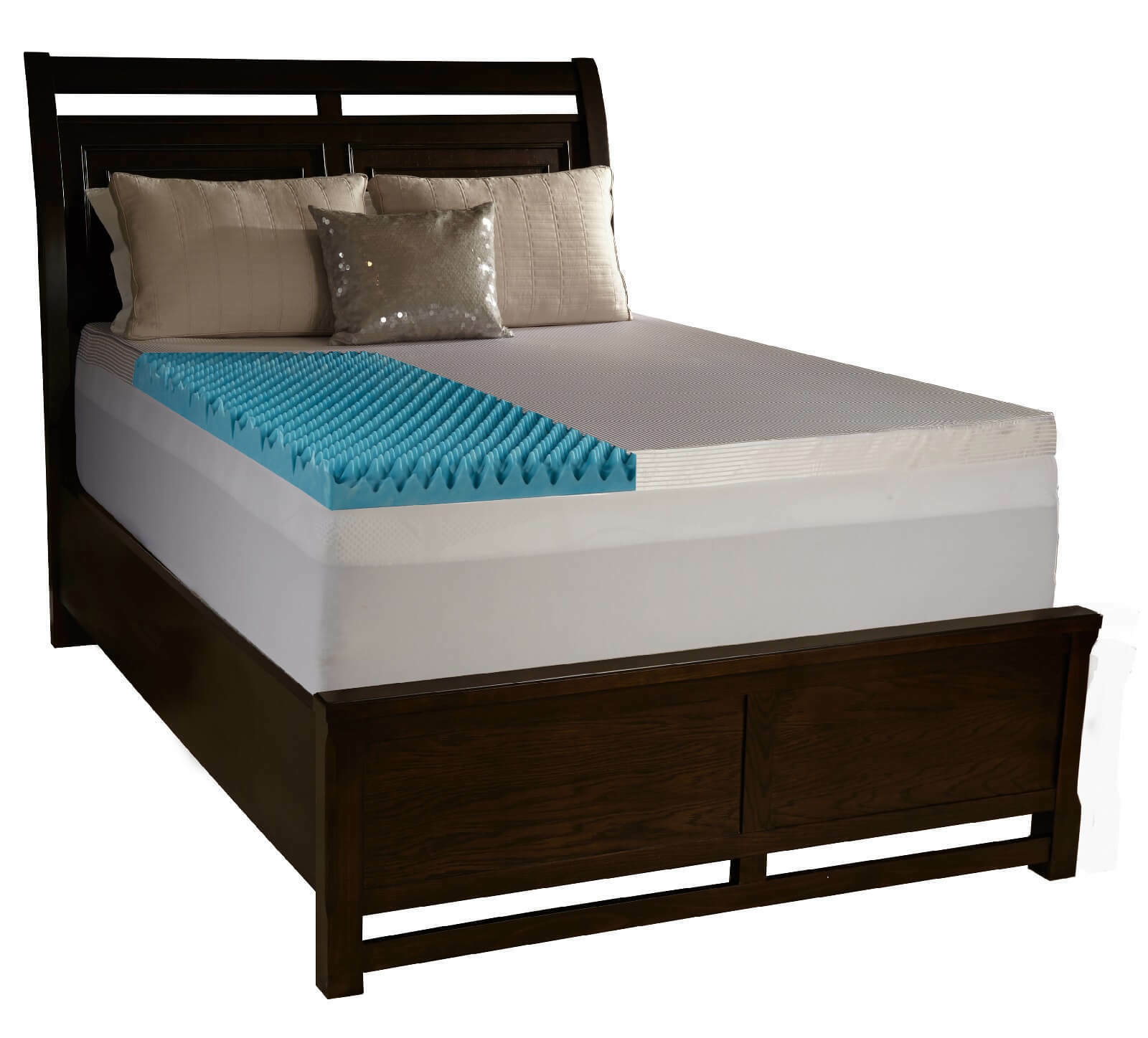 4  Full Egg Crate Foam Mattress Topper Gel Infused Memory Bed Pad With Cover