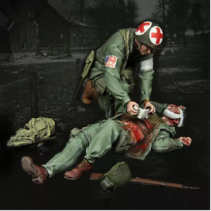 1-35-model-World-War-II-USA-Wounded-soldiers-from-the-resin-set-of-2-figures