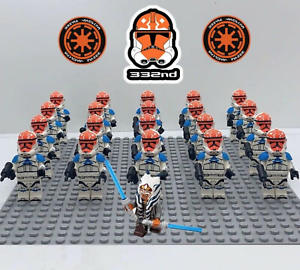21Pcs-Star-Wars-Ahsoka-Tano-332nd-Clone-Trooper-Minifigures-For-Lego-Moc-Toys