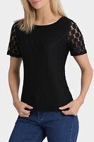 Regatta Essential Lace Short Sleeve Top Black