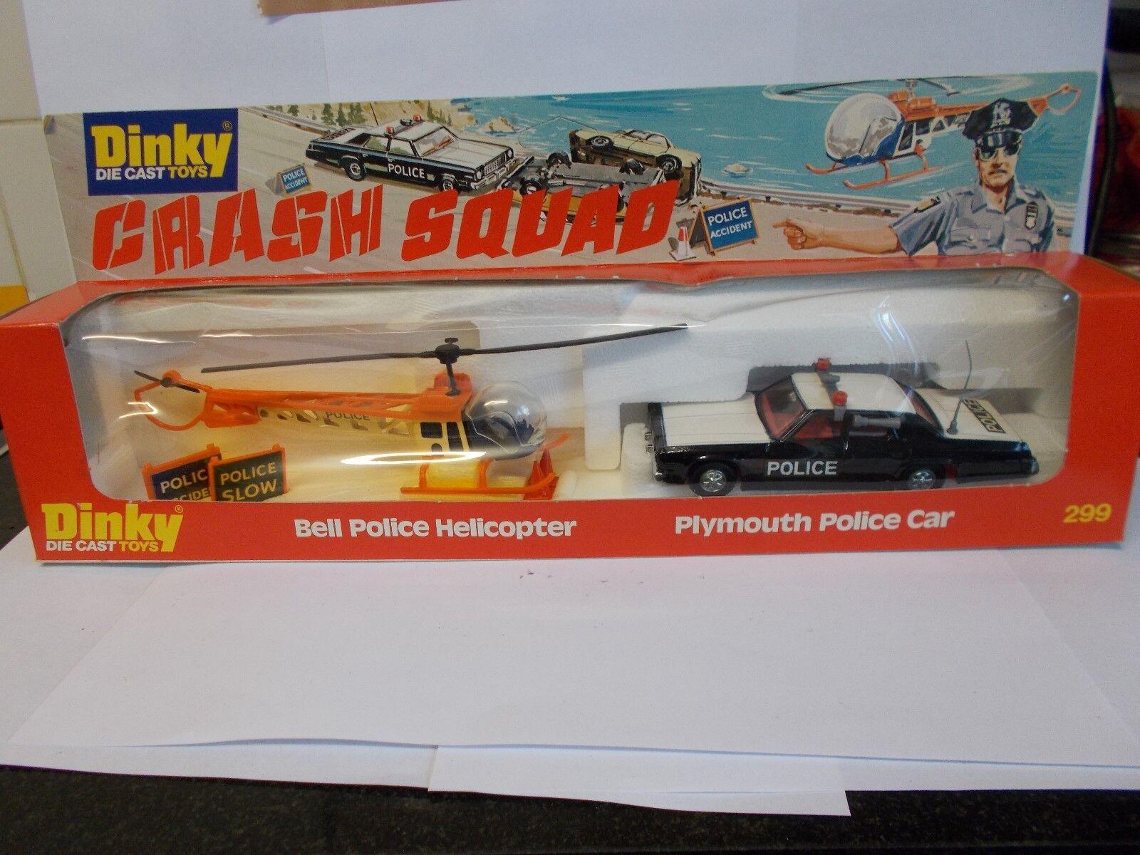 Achats de Noël Dinky Gift Set 299 police Crash squard vintage 1978 Boxed | Couleur Rapide
