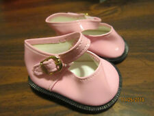 Brown Scalloped Mary Jane Shoes fits 18 inch American Girl Doll Clothes
