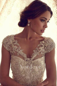 Image Is Loading Beading Lace Wraps Wedding Jackets Cap Sleeves Bridal