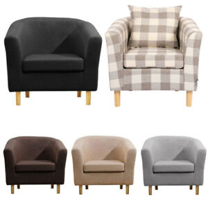 Linen Fabric Backrest Small Tub Chairs Armchairs Office ...