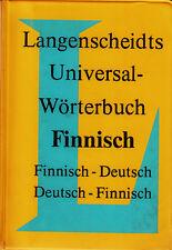 *- LANGENSCHEIDTS Universalwörterbuch - FINNISCH - tb (1985)