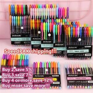 18-24-36-48Pcs-Gel-Pen-Set-Metallic-Pastel-Glitter-Neon-Gel-Pens-DIY-Paiting
