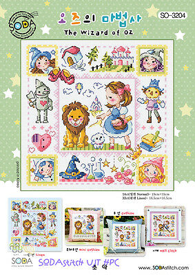 "The Wizard of OZ"" cross stitch chart. SODA SO-3204"