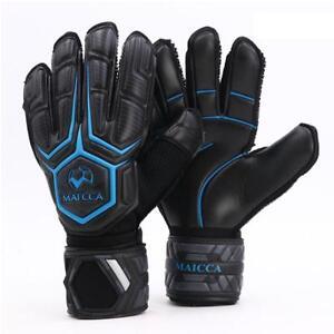 a98b2bbf7 Image is loading Latex-Goalkeeper-Gloves-Finger-Football-Soccer-Goalie- Keeper-