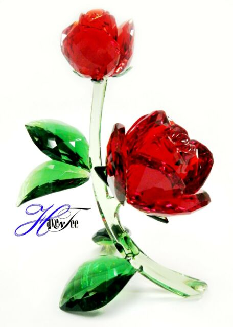 475288cbe7 RED ROSE FLOWERS NATURE INSPIRED LOVE 2019 SWAROVSKI CRYSTAL 5424466