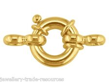 18ct Yellow Gold Large Heavy Bolt Ring Jewellery Clasp 8mm