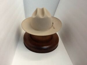 9bcc2dfb07790 Stetson Cowboy Hat 6X Beaver Felt Silverbelly Open Road With Hat ...