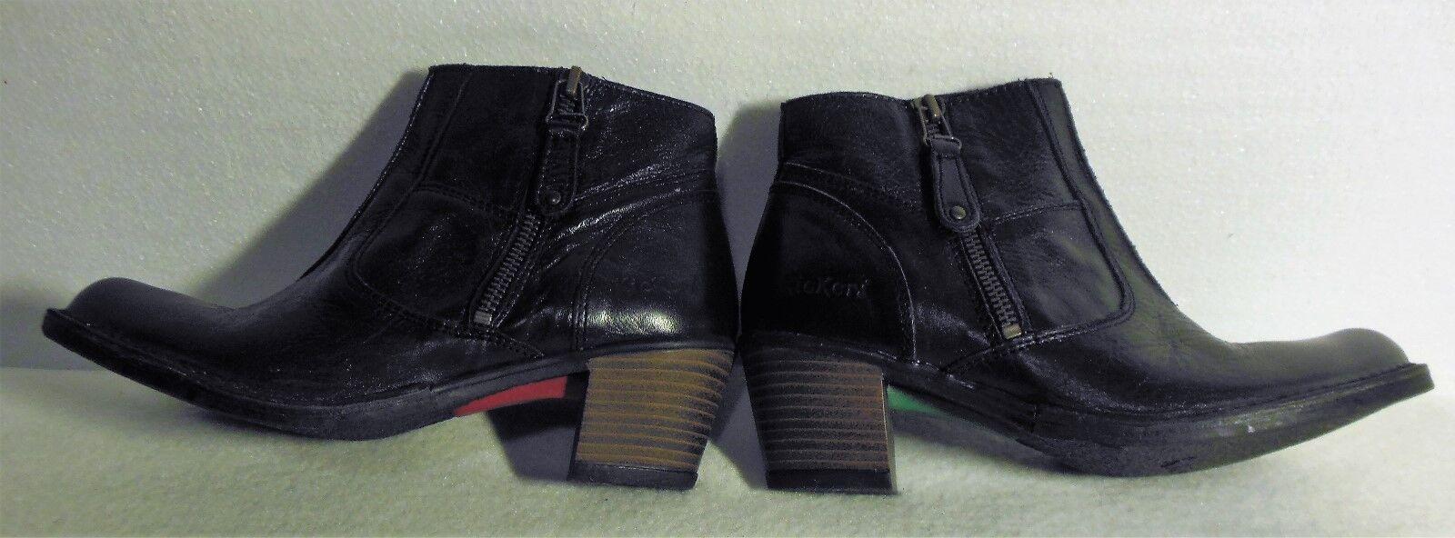 NIB NIB NIB Women's Black Kickers Nantucket Ankle Boot Size 6 M  (37)  MSRP  158 967051