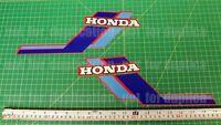 1984 84' Honda Atc 110 Atv Gas Tank 2pc Vintage Graphics Decal Stickers