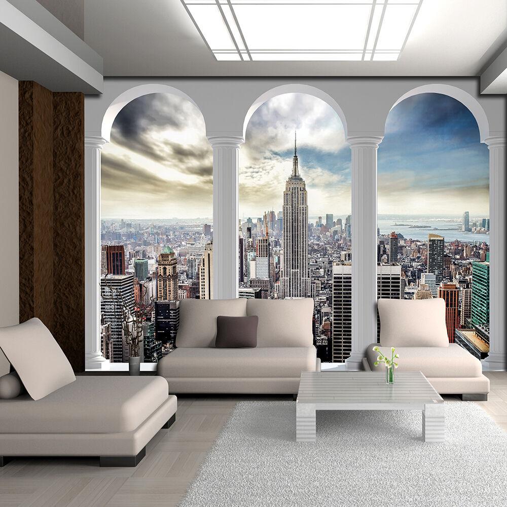 VLIES Fototapete Tapete Poster Foto Bild Tapeten NEW YORK SKYLINER 3FX2345VE