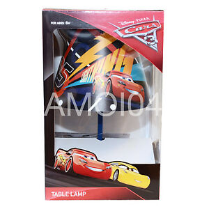 Disney-Cars-3-Boys-Kids-Table-Bedside-Lamp-Night-Light-Lightning-McQueen-OUT-OF