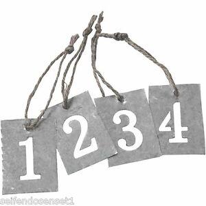 Zink-Zahlen-1-2-3-4-Advent-Nummern-Weihnachten-Anhaenger-Metall-shabby-chic-590